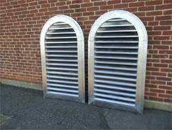 Lead coated copper louvers