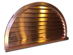 Semi circle non venting copper louver custom made to order