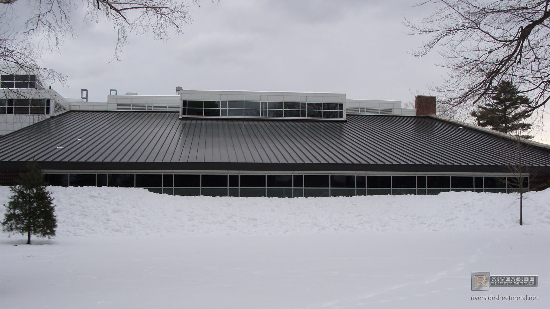 Bronze Aluminum Roof Without Snow On Metal Roof Panels