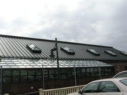 Bronze aluminum metal roof