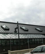 Bronze aluminum metal roof