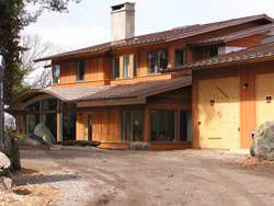 Copper roof with flat lock panels and standing seam panels