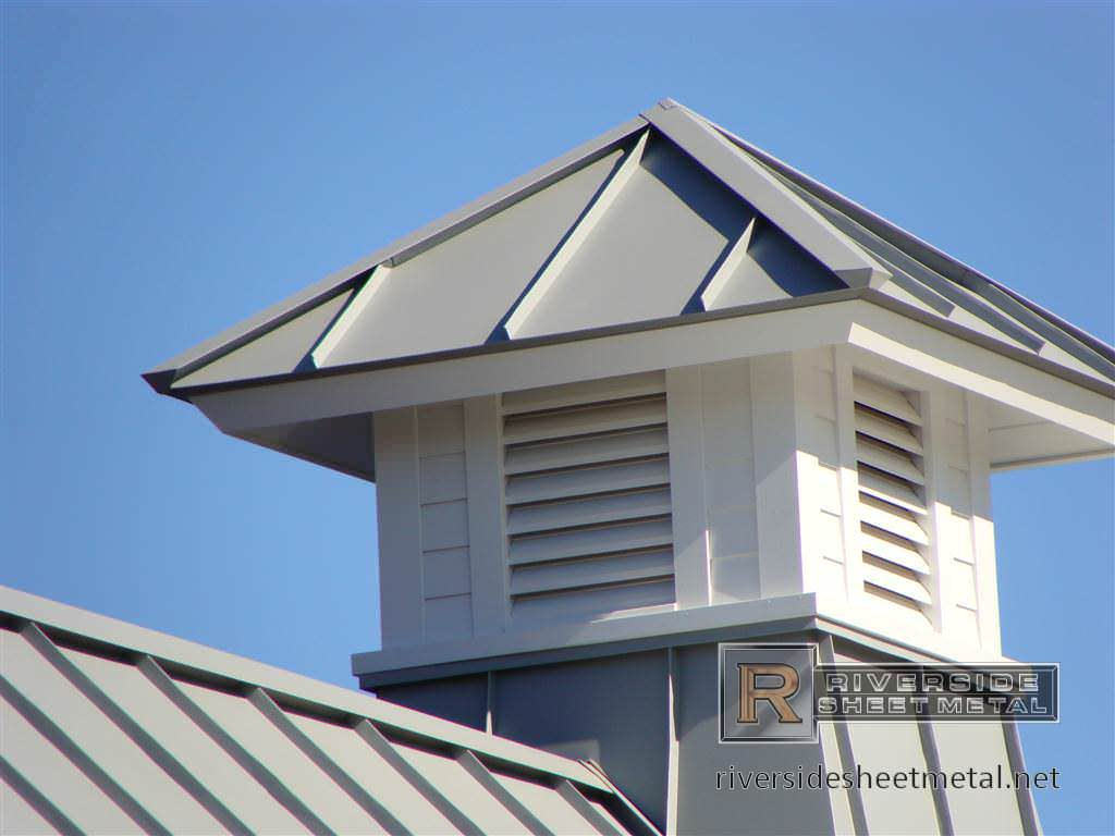 Metal Roof with Cupola