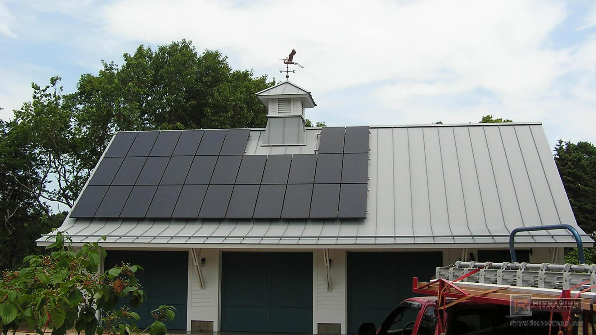 Dove Gray Standing Seam Metal Roofing Panels Riverside