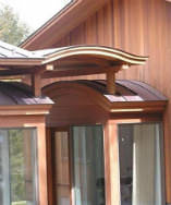 Radius copper roof