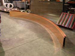 Radius standing seam copper panel