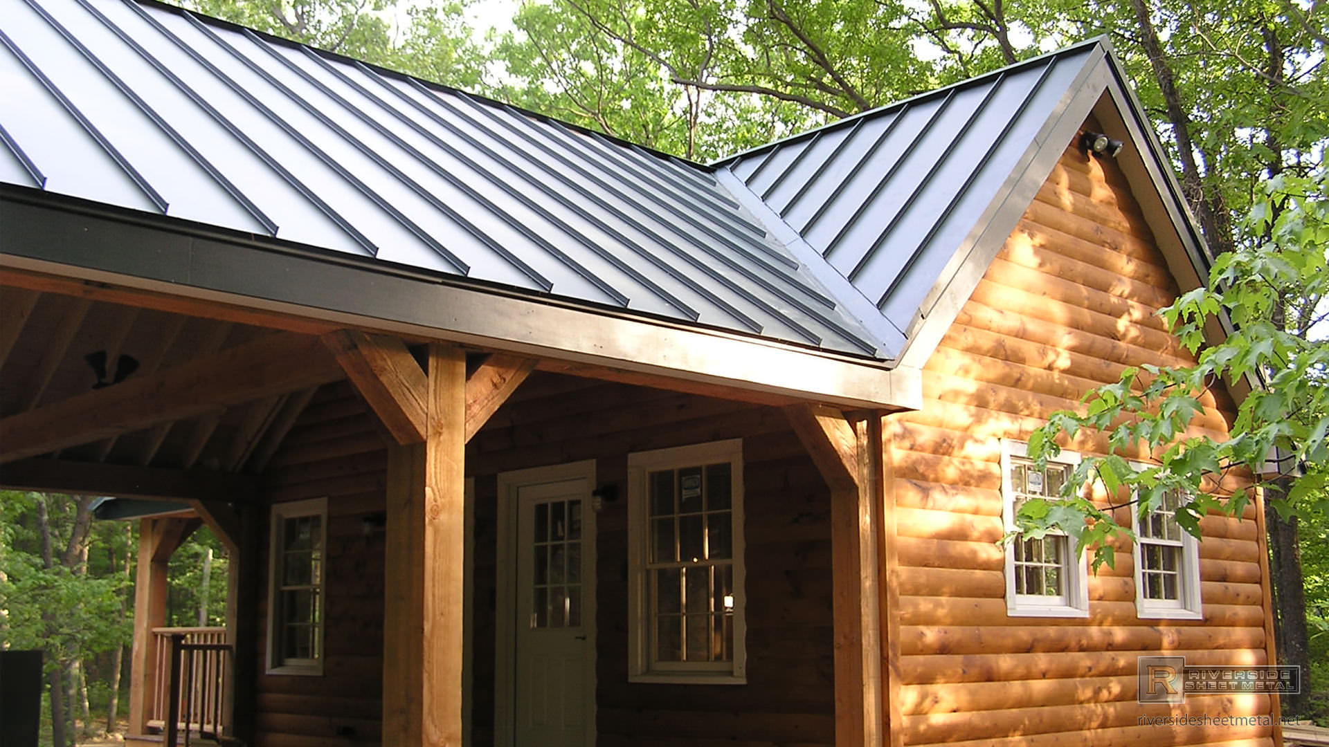 Standing Seam Charcoal Gray Steel Metal Roof Metal Roofing