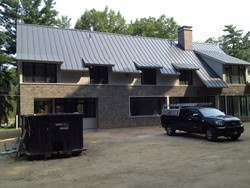 Aluminum metal roof gray with different angles