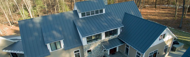 Standing seam aluminum metal roofs