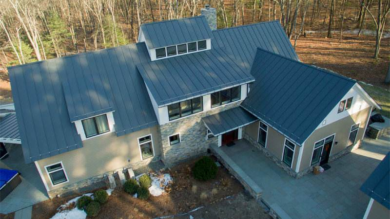 Metal roofing - Aluminum charcoal gray panels