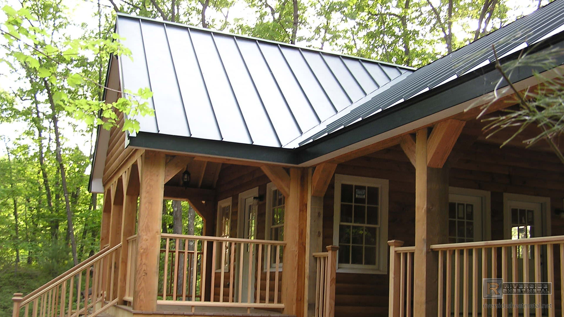 ... Standing Seam Charcoal Gray Steel Metal Roof   View 3 ...