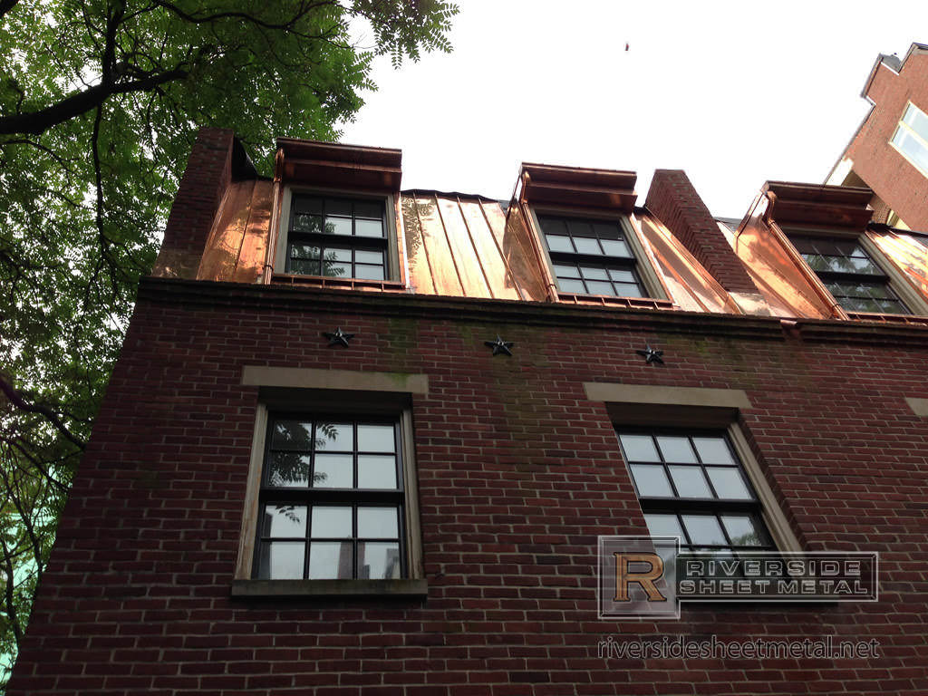 Copper Roofing And Custom Gutter Installation