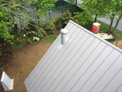 Galvalume metal roof installation