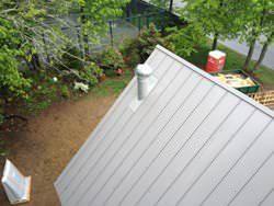 Galvalume metal roof installation