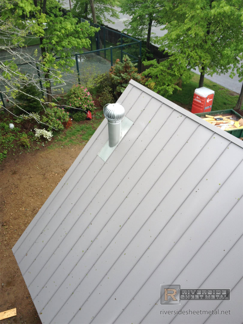 Dove Gray Aluminum Roof Panel Installation