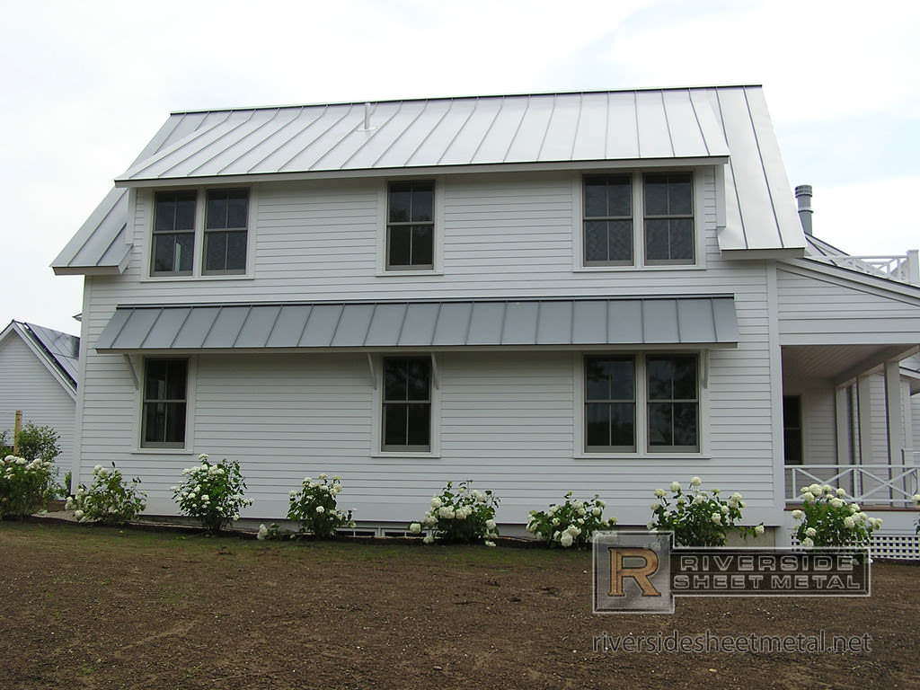 Dove Gray Standing Seam Metal Roofing Panels Riverside