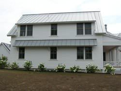 Dove gray standing seam metal roofing panels