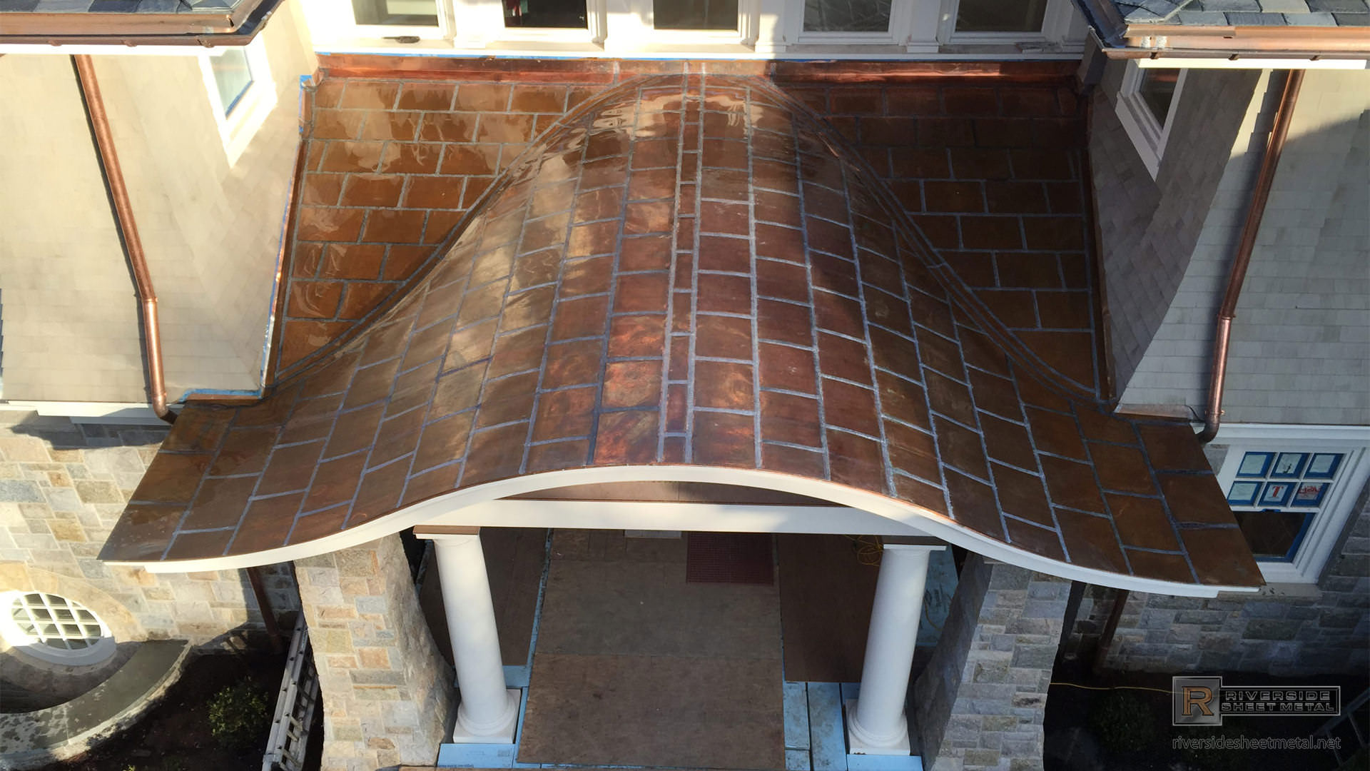 Flat Lock Copper Panel Roof Installation Massachusetts