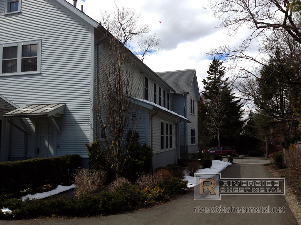 Freedom Gray Gutter Downspouts And Metal Roof Panels Ma