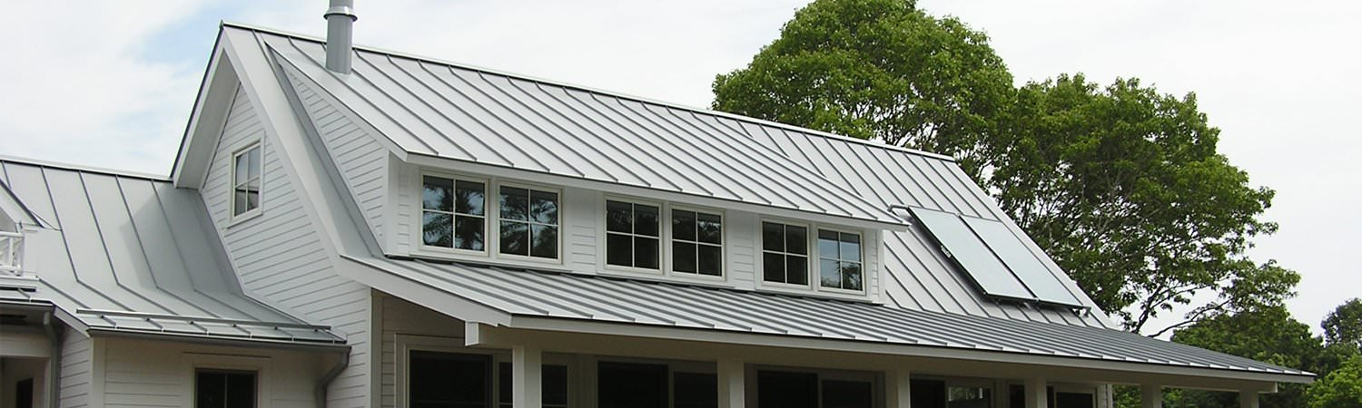 Aluminum and steel metal roofs