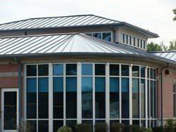Triangular and straight zinc panels