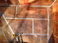Copper flat lock panels installation - view 1