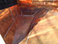 Copper flat lock panels installation - view 3