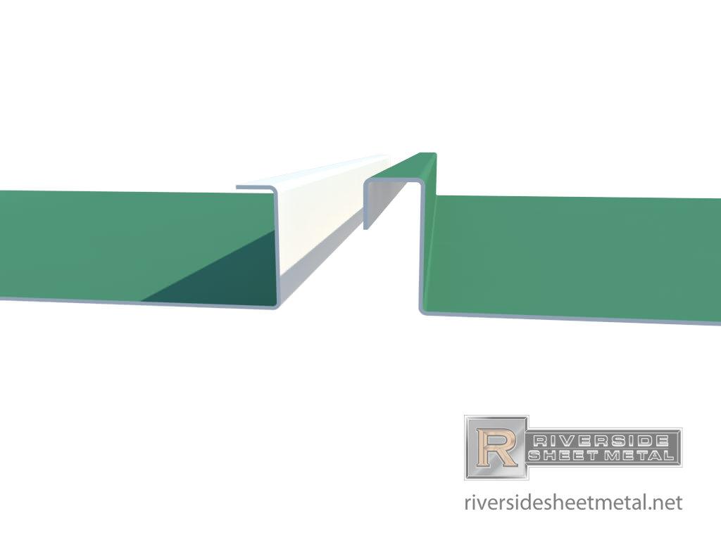 Aluminium Standing Seam Panels : Seam roof clicklock standing closeup