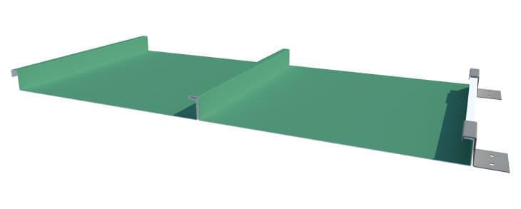 Standing seam roof panel - Single lock installation - view 1