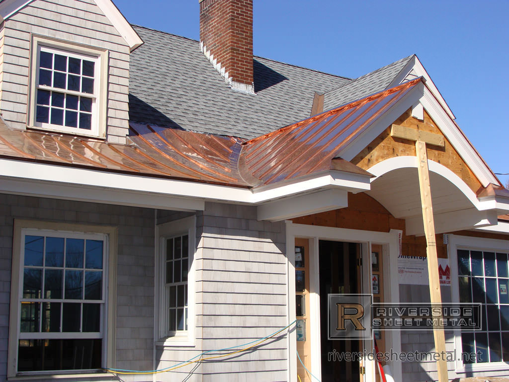Metal roofing copper