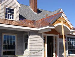 Radius standing seam copper roofing installation
