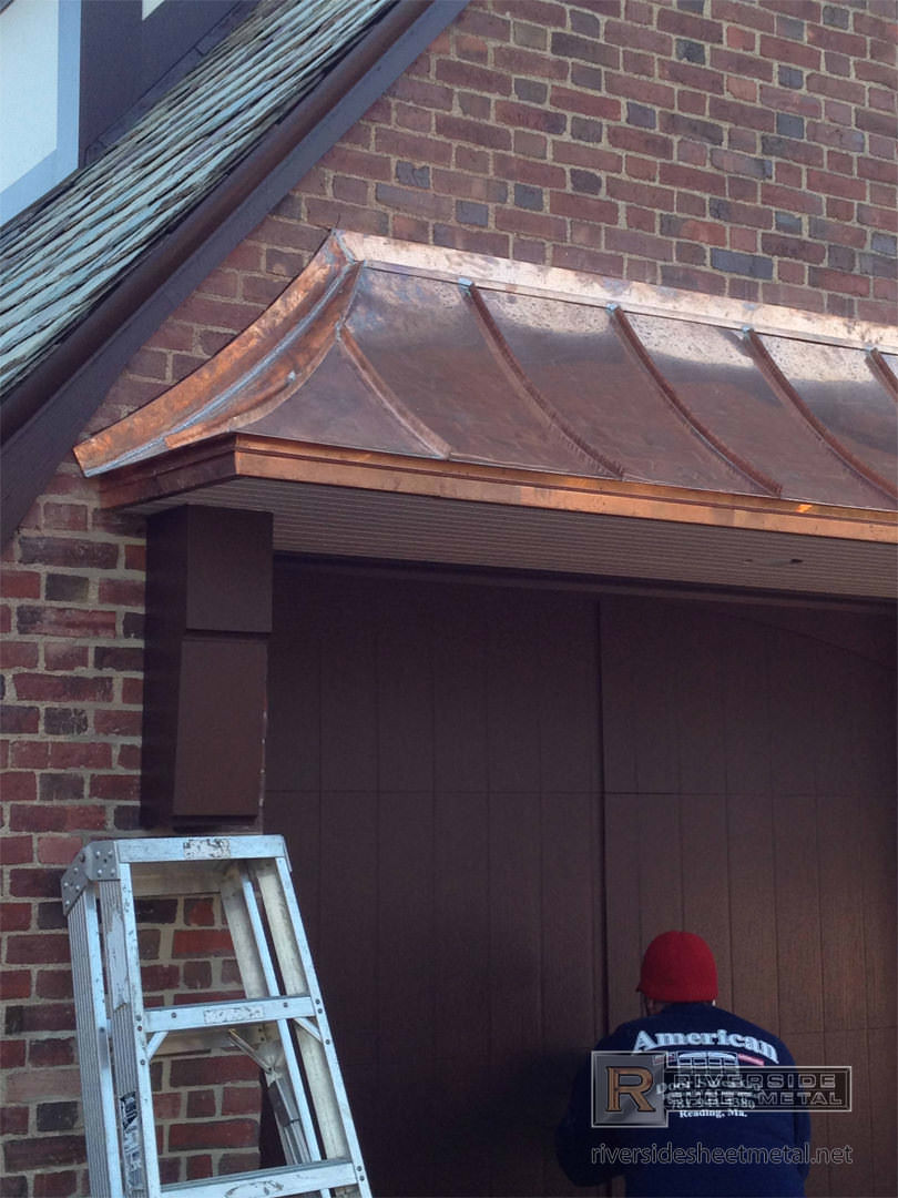 Metal roofing fabrication installation copper zinc for Garage roofing options