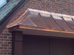 Installation of radius standing seam copper panels