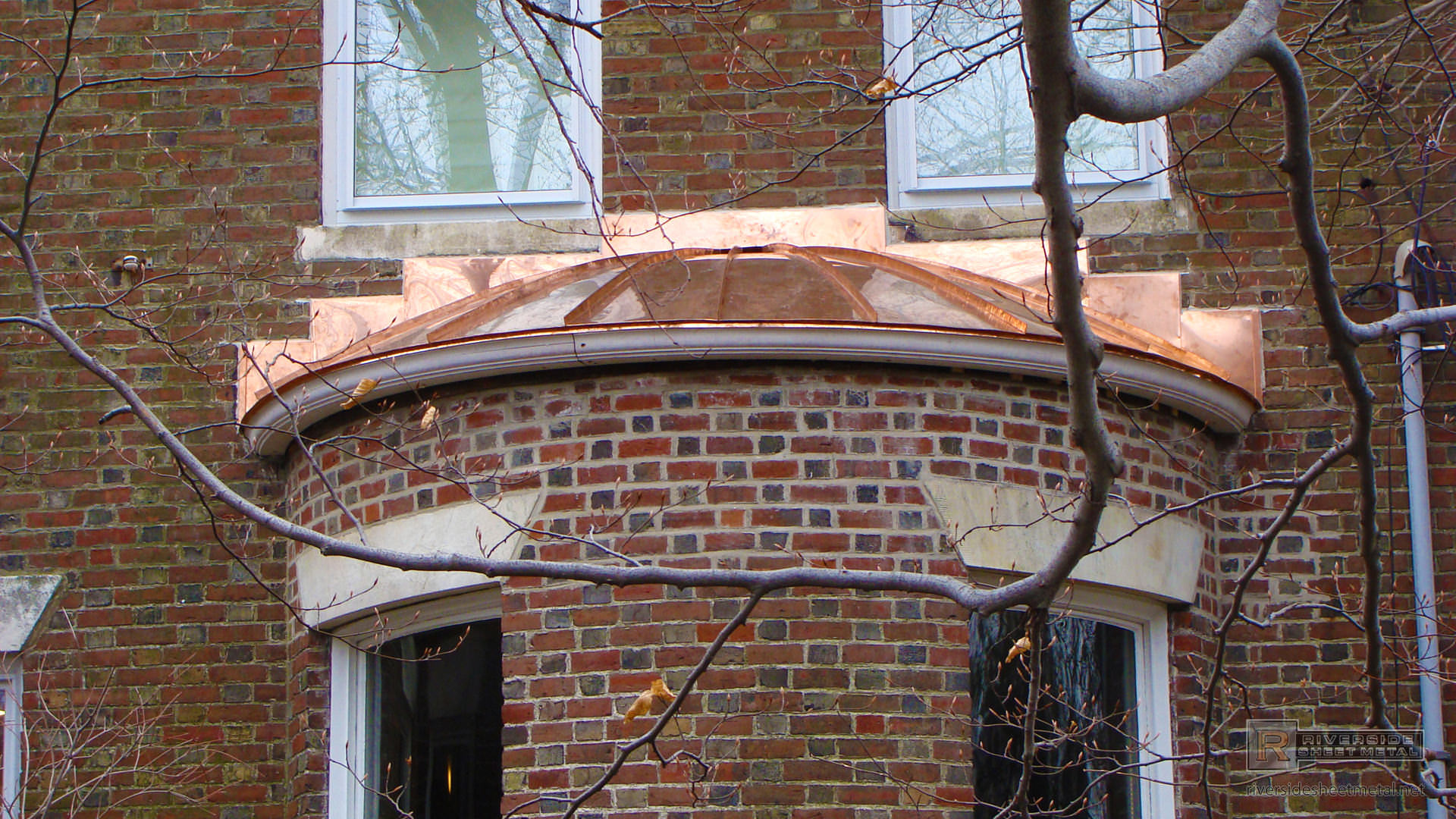 Round Standing Seam Roof Section In Copper New England