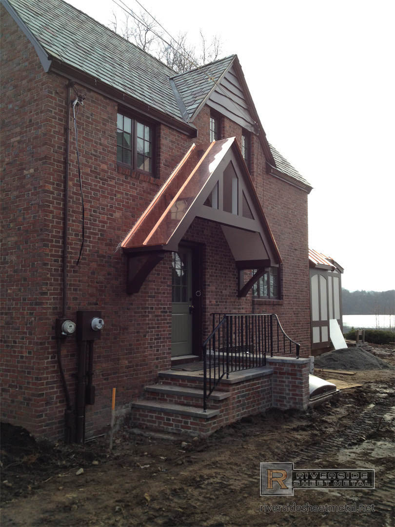 Standing seam copper roof riverside for Standing seam copper