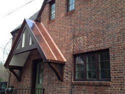 Standing seam copper panels