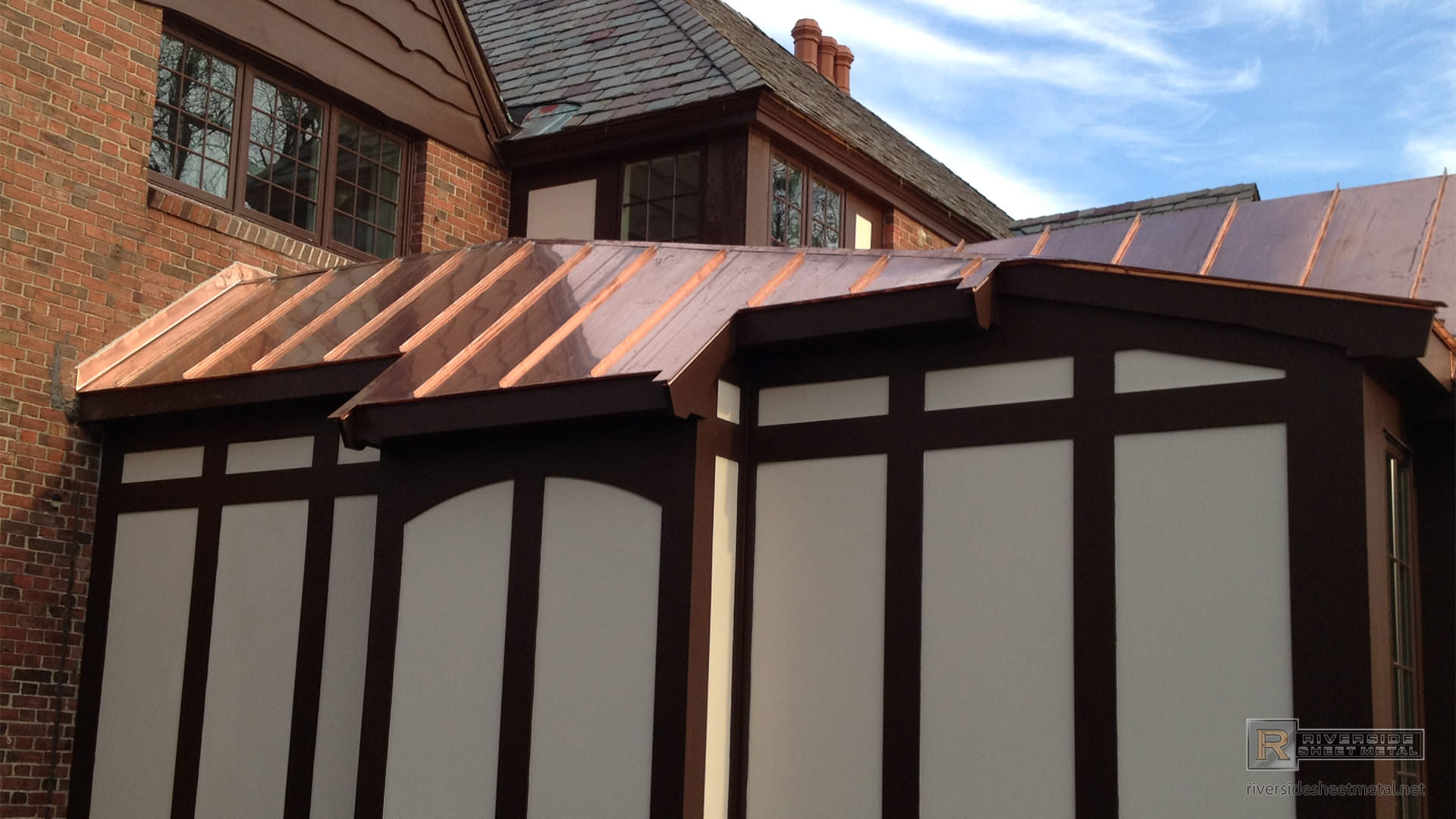 Standing Seam Copper Roof   View 1 ...