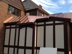 Standing seam copper roof
