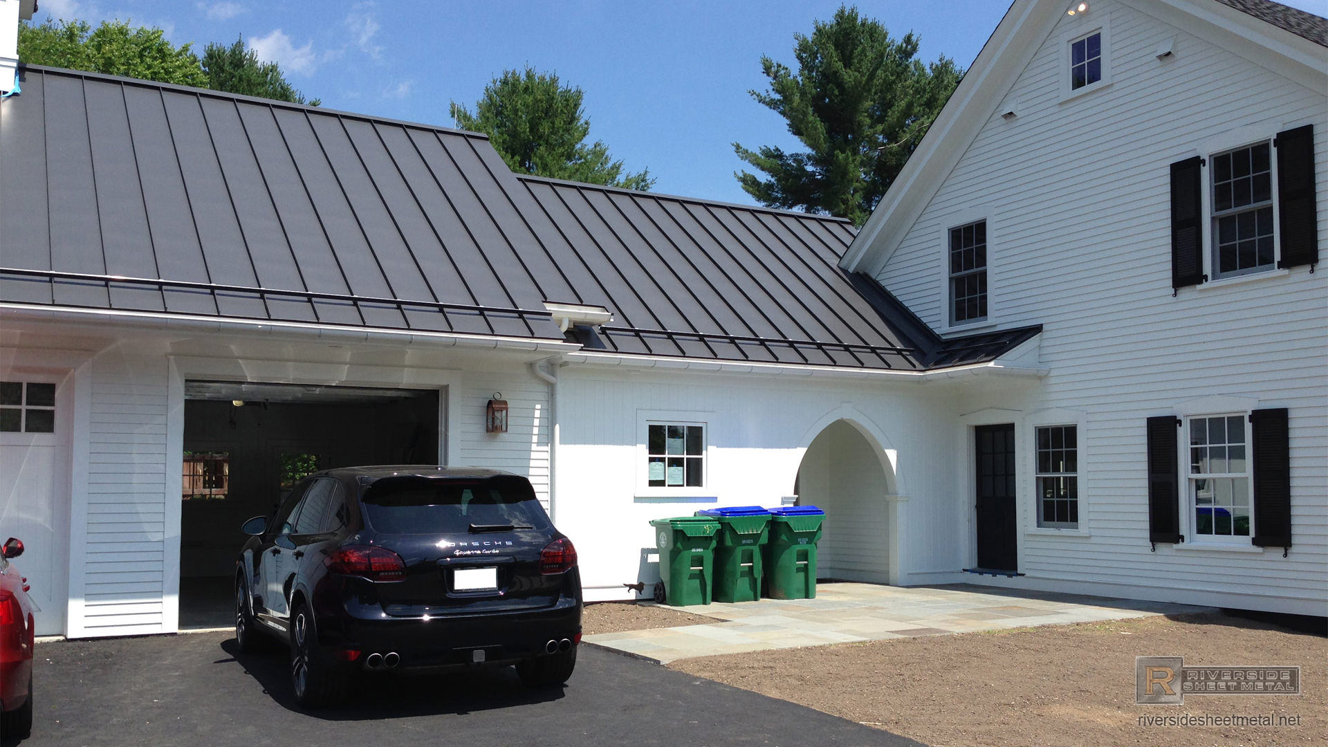 Matte Black Aluminum Roofing With Colorgard Snow Retention