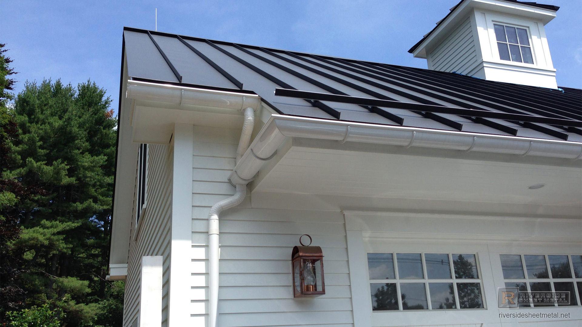 Matte Black Aluminum Roofing With Colorgard Snow Retention