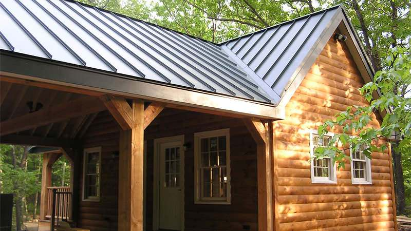 Metal Roofing - Steel charcoal gray