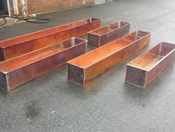 Rustic copper planters