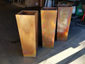 Burnished tapered custom copper planters - view 2