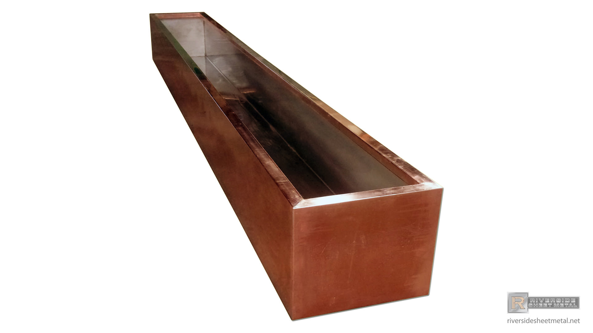 Pre Weathered Copper Planter With Stainless Steel Liner