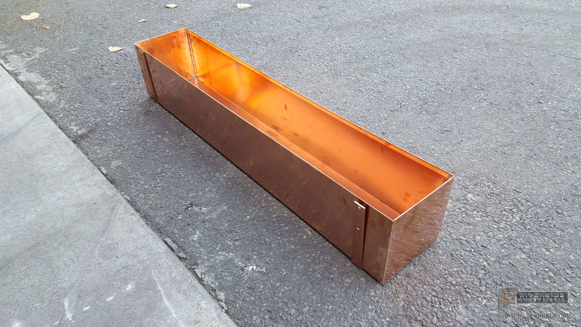 Copper Window Planter Box With Brackets Shipping Available