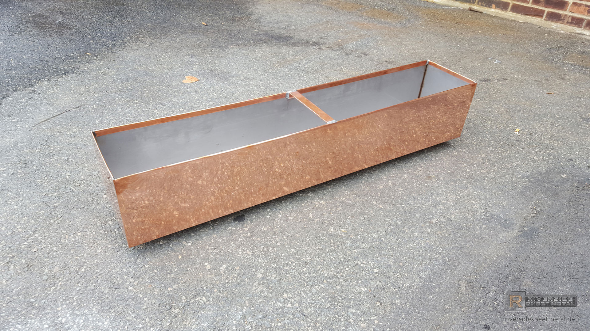 20 Oz Natural Copper Planter With Stainless Steel Liner And Bracket
