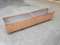 Custom 20 oz natural copper planter with stainless steel liner and bracket