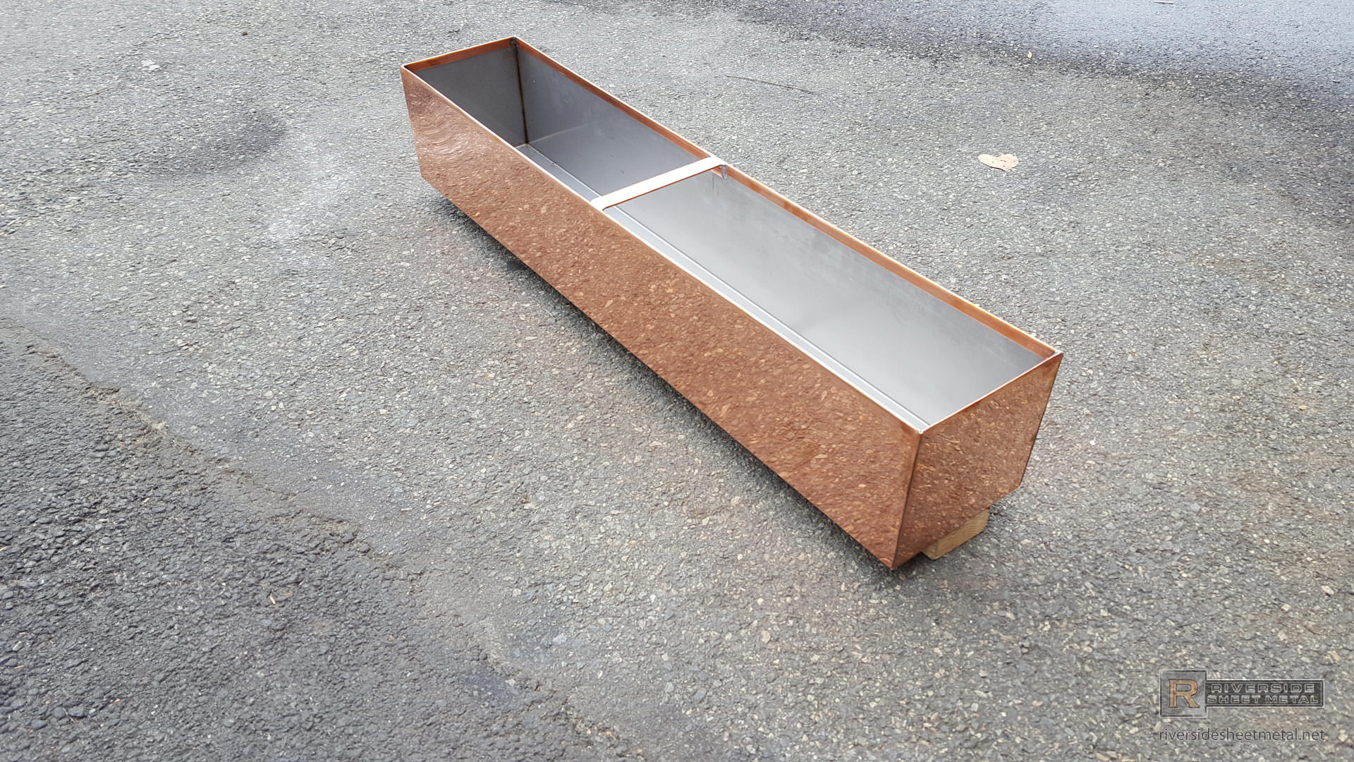 20 Oz Natural Copper Planter With Stainless Steel Liner