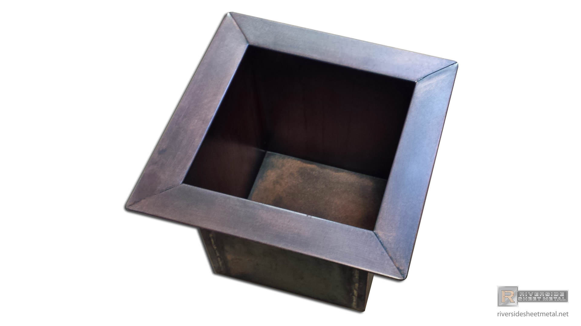 Custom Copper Planter Insert With Dark Patina