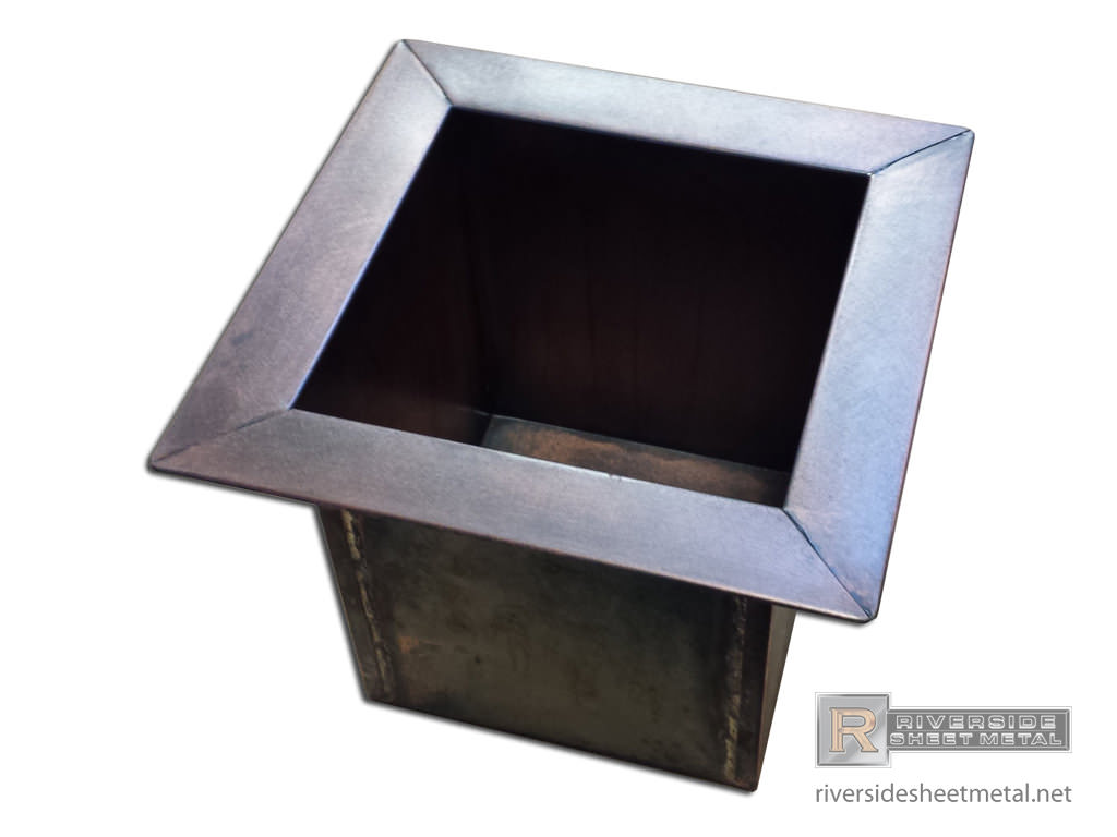 Copper Planter With Stainless Steel Liner Riverside